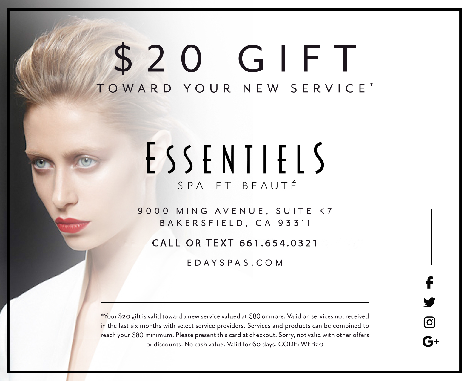 $20 Gift toward your new service.